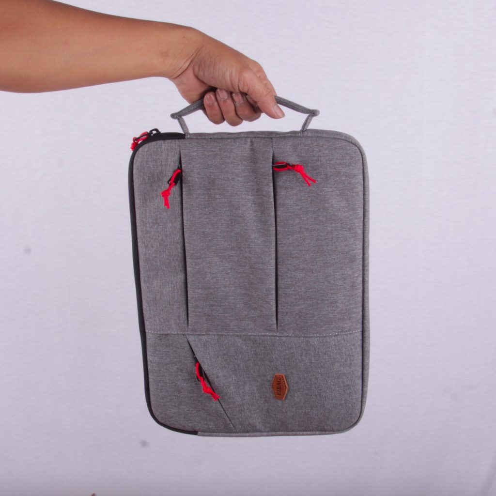 tas laptop macbook 13.3 inch EIBAg 1830 abu salur muda