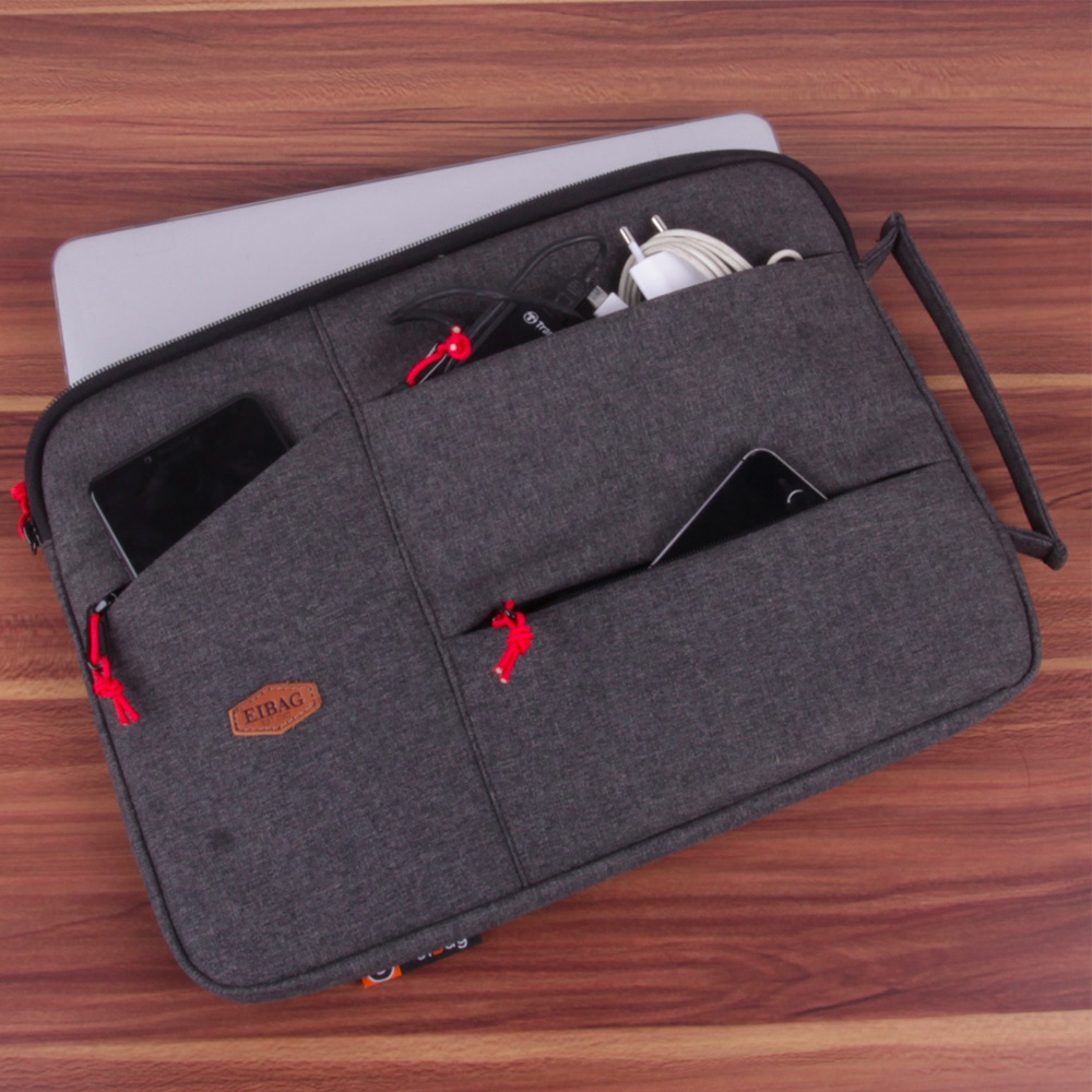 tas laptop macbook 13.3 inch EIBAG 1830 abu salur tua